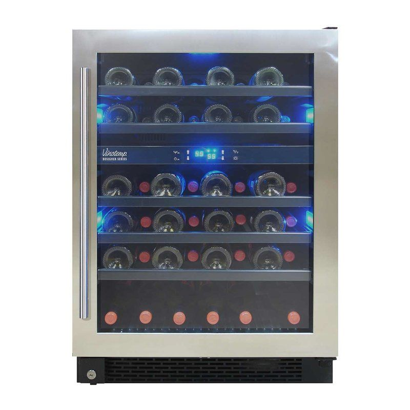 46 Bottle Dual Zone Built In Wine Refrigerator Wine Chiller Dual Zone Wine Cooler Built In Wine Refrigerator