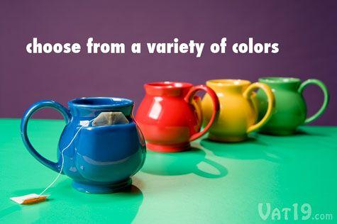 Pouch Tea Mug  12 oz ceramic mug with a pouch to hold your tea bag.