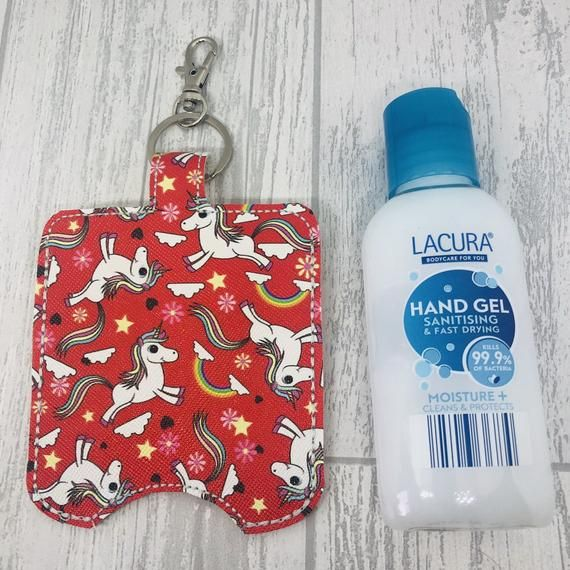 Cute Hand Sanitizer Holder Unicorn Sanitiser Keyring Keychain