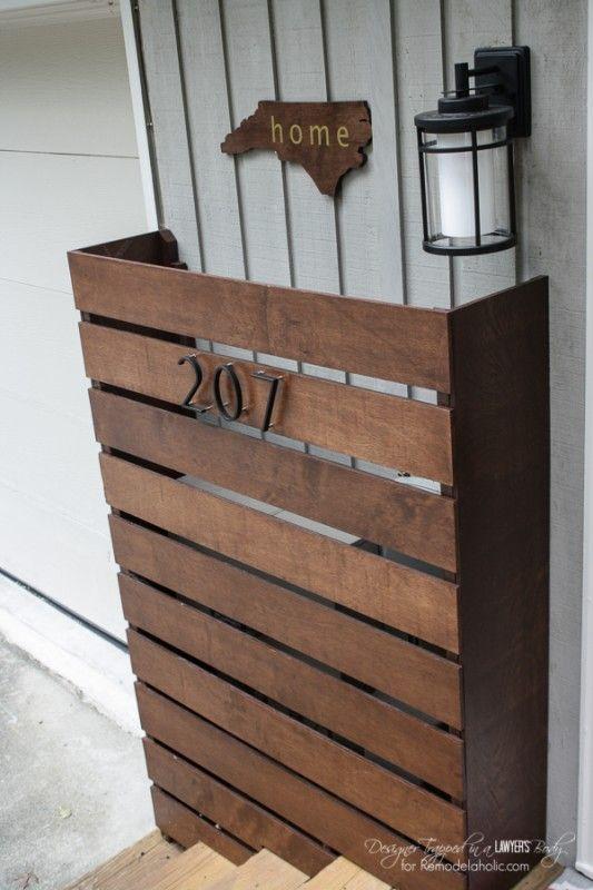 Remodelaholic Diy Wood Screen To Hide Utility Boxes Wood Screens Utility Box Wood Diy