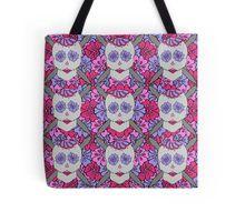 Knit Sugar Skull. Tote Bag