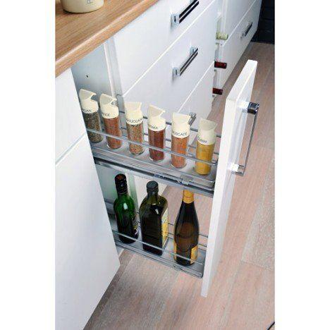Rangement Coulissant Epices Bouteilles Pour Meuble L 15 Cm Delinia Meuble Cuisine Rangement Tiroir Cuisine Meuble De Cuisine Ikea