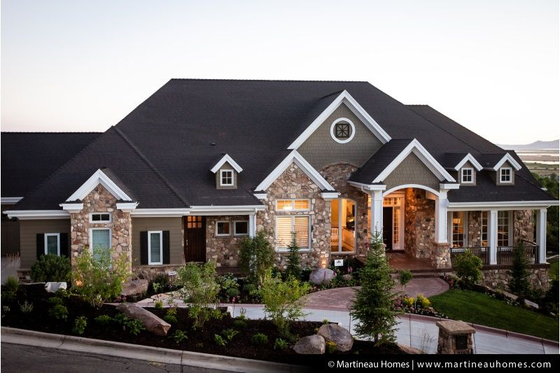 Tranquility House Exterior Custom Home Builders Beautiful Homes