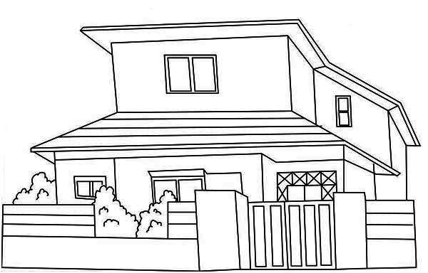 Japan Common Houses Coloring Page Color Luna House Colouring Pages House Colouring Pictures Easy Coloring Pages