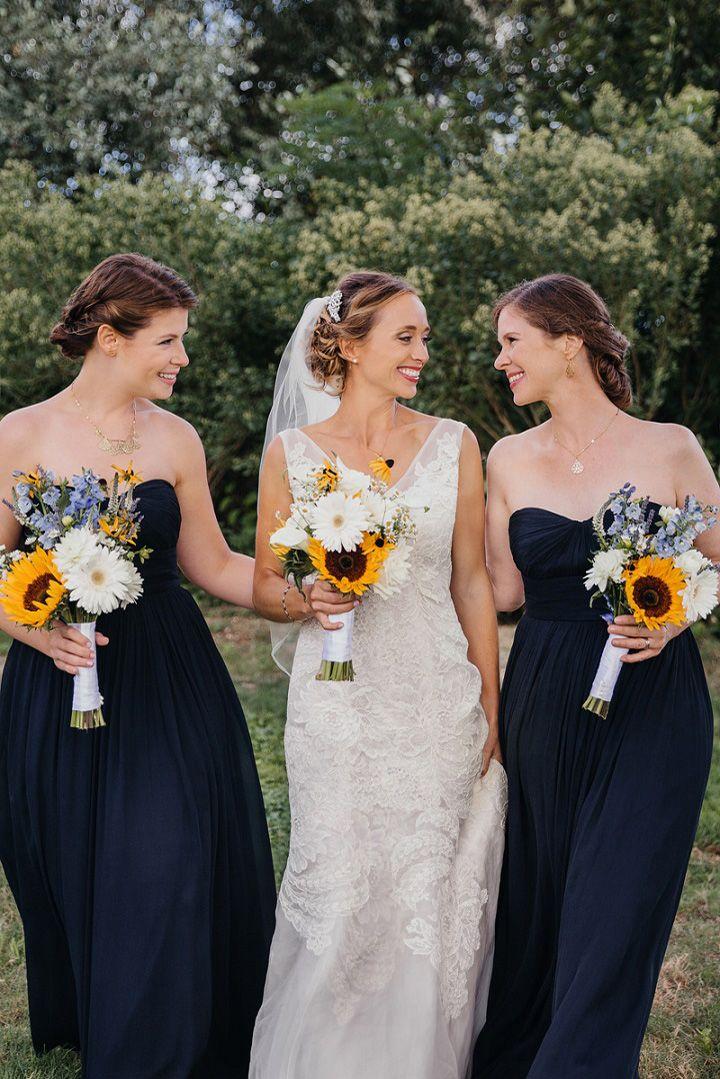 Blush pink and navy blue wedding colour schemes