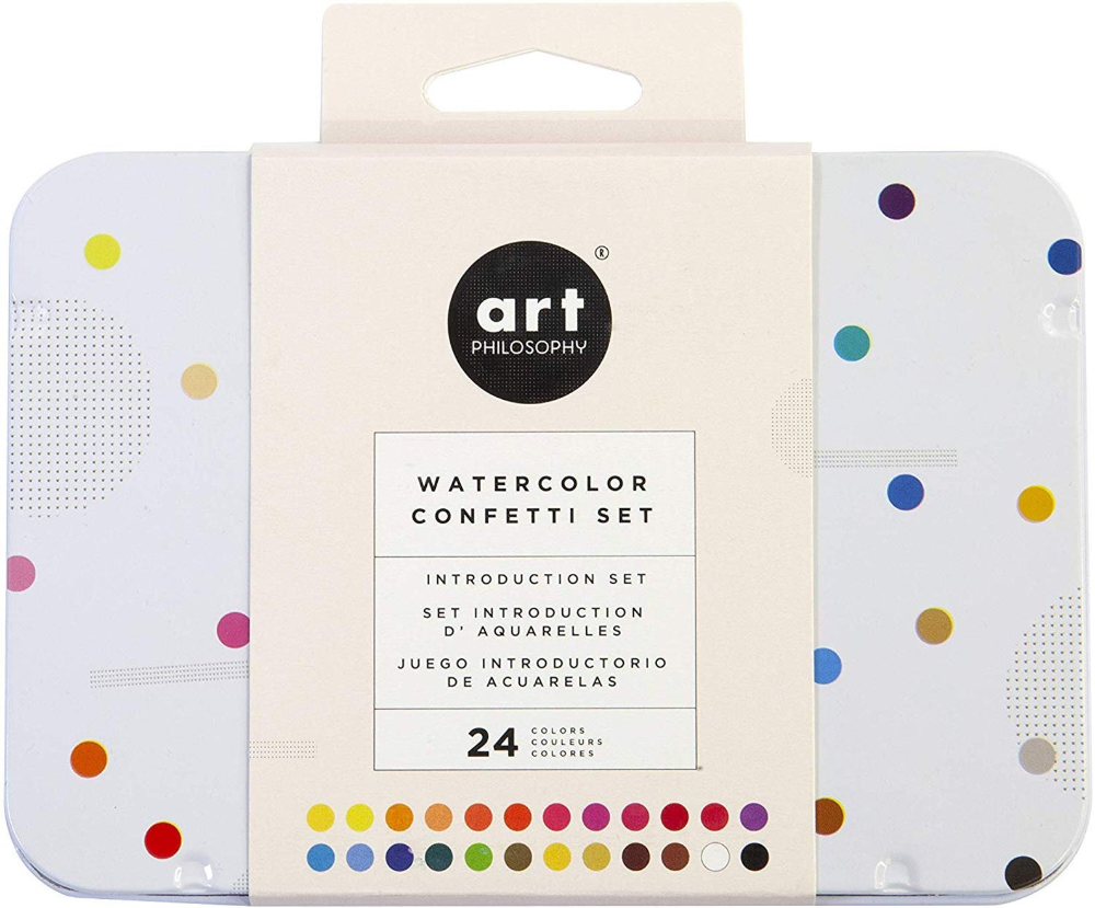 Prima Art Philosophy Watercolor Confetti Palette Etsy Mixed Media Art Projects Basic Watercolor Watercolor