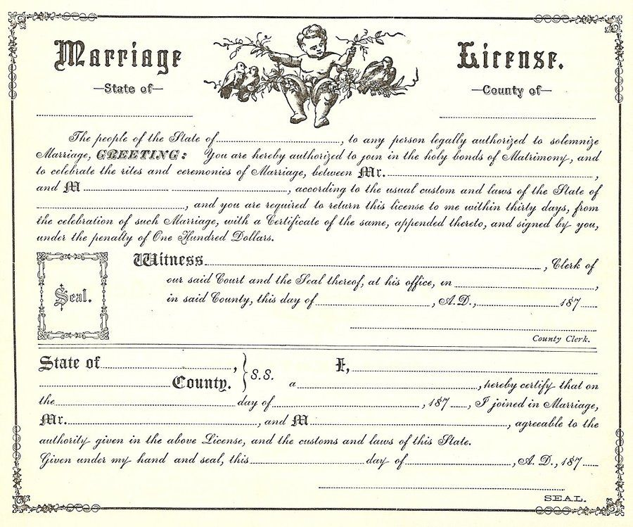 Marriage Certificate Template Keepsake Marriage Certificate