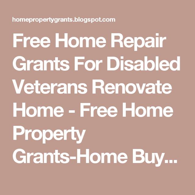 Free Home Repair Grants For Disabled Veterans Renovate Home