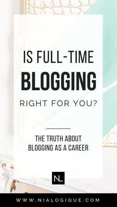 The Truth About Blogging As A Career   Click through to find out if you're cut out to be a full-time blogger! Learn about the traits you need in order to build a successful business, the learning that takes place, and all of the problems you may run into whilst growing your brand! Business tips, blogging tips, work from home, full-time income, income reports, branding, investments, working with brands