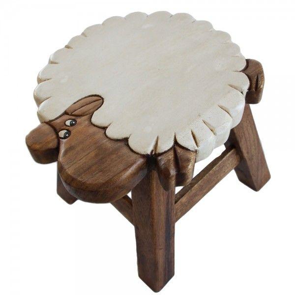 Osaka Kids Wooden Stool Solid Mango Wood Timber Children Designer Furniture  Sheep Home Design Ideas
