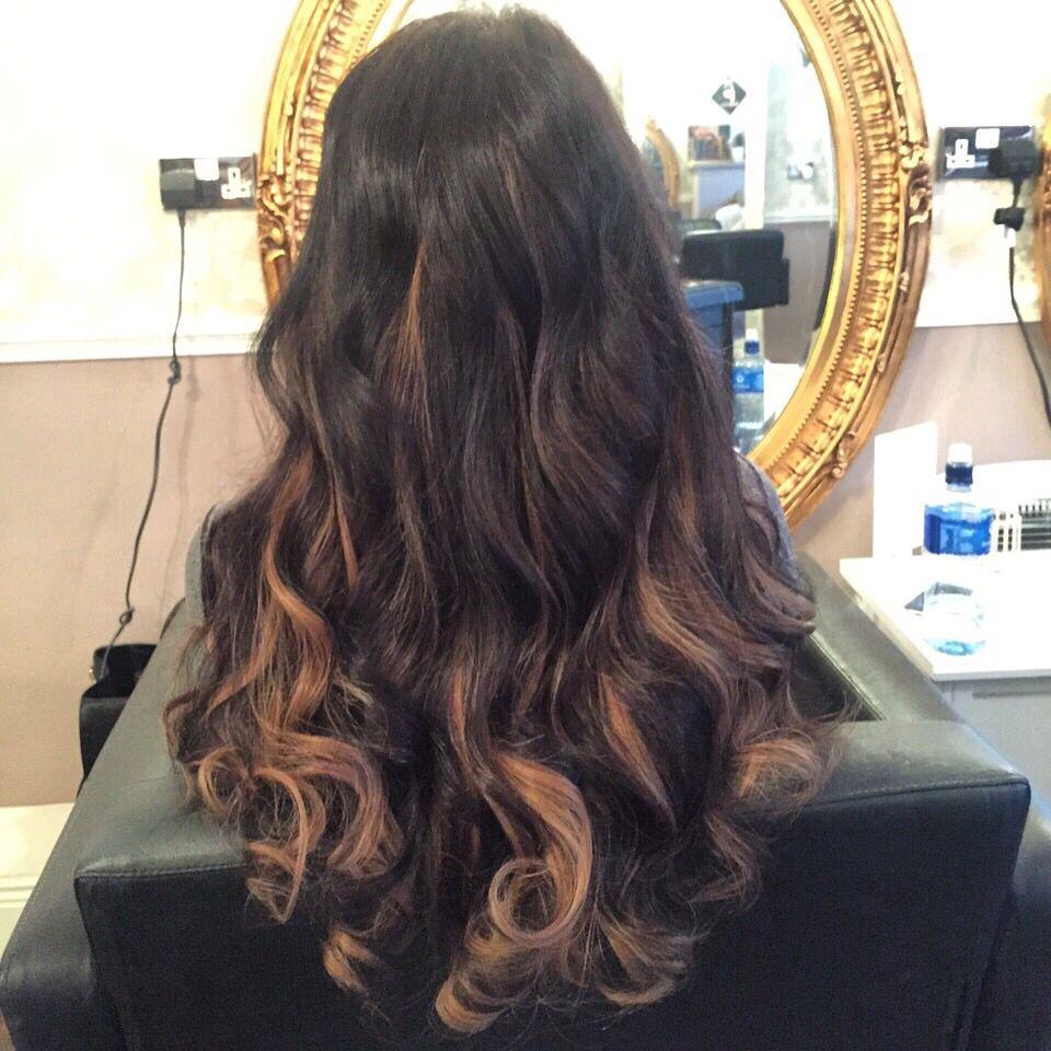 Hair Extensions Balyage Effect La Bella Vita Hair And Beauty