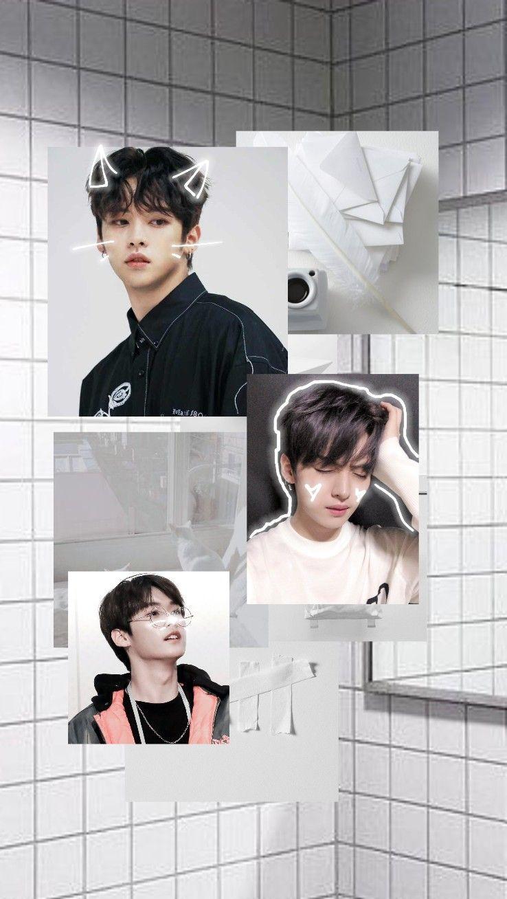 Stray Kids Minho White Soft Aesthetic Lockscreen Wallpaper Edit By Minsungsky Stray Kids Minho White Aesthetic Cute Wallpapers