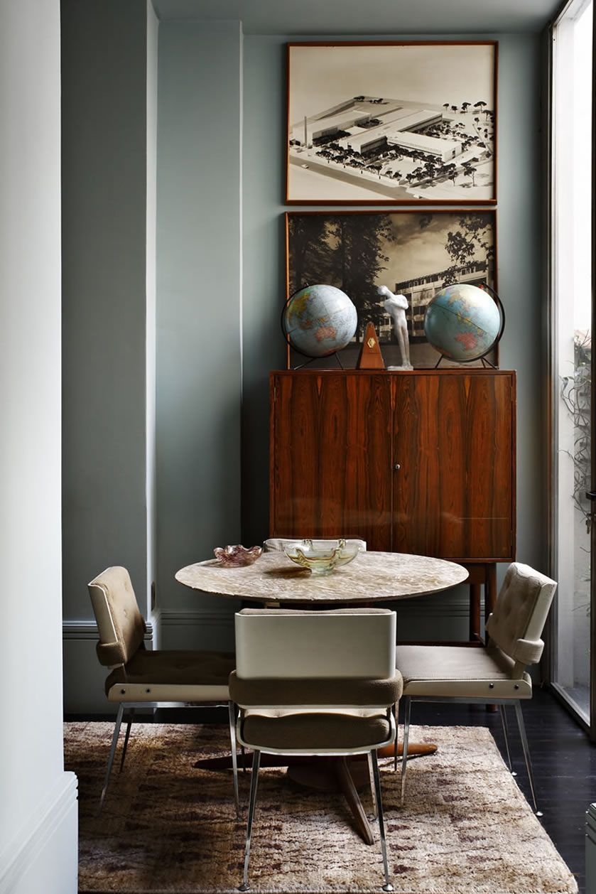 Lorenzo Castillo Vivienda Santiago 0764 Jpg Warm Interior Interior Masculine Dining Room