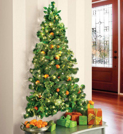20 Stunning Christmas Tree Decorating Ideas Wall Christmas Tree
