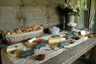 love the idea of a cheese table