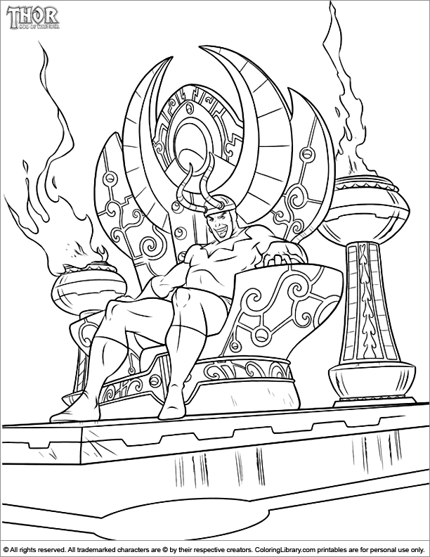 Thor coloring page | Coloring Book | Pinterest | Thor and Coloring books