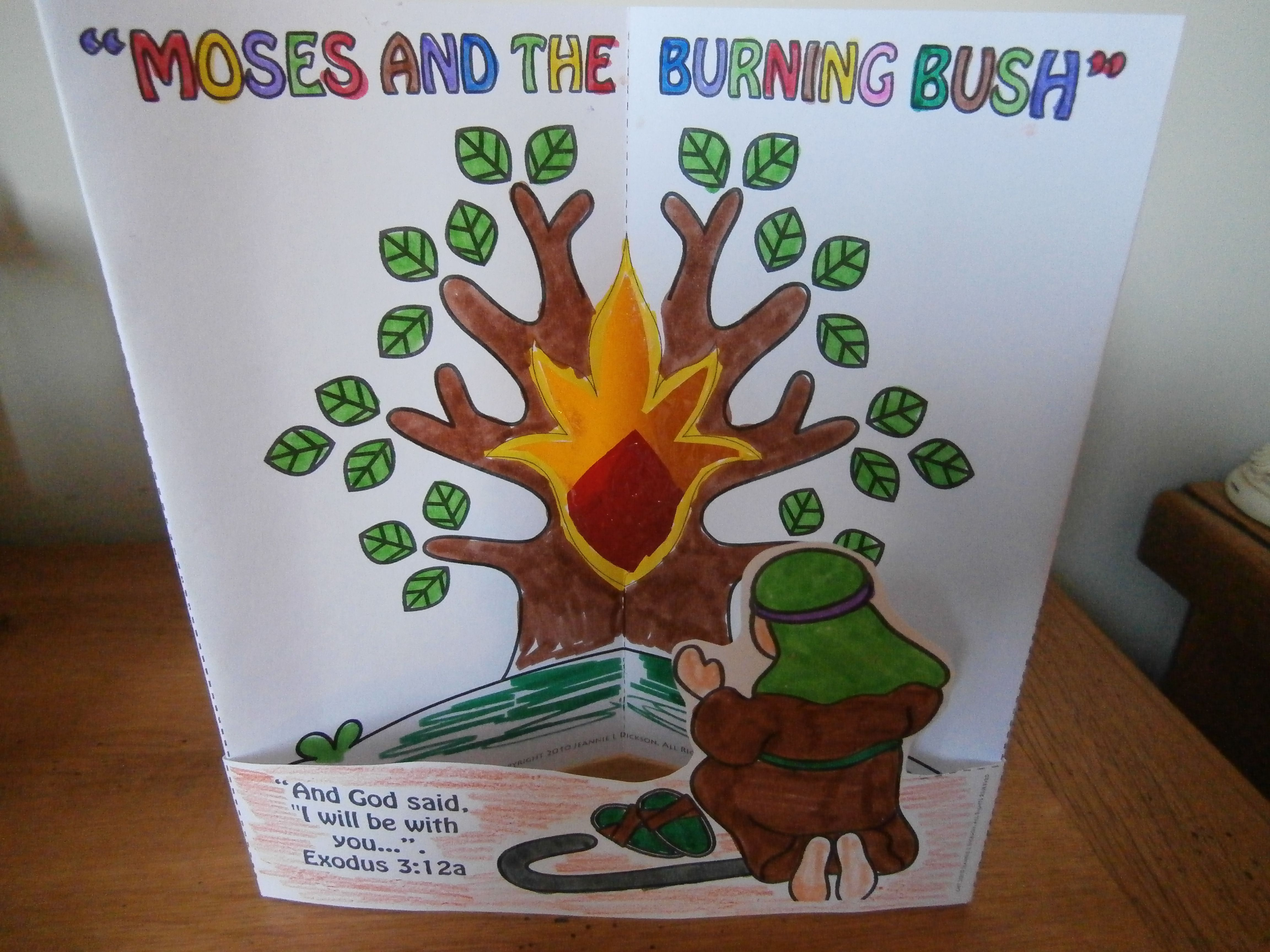 Moses and the burning bush craft (With images) | Bible ...