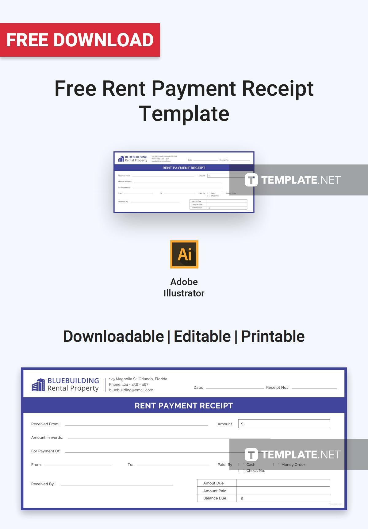 Cash Paid Receipt Enchanting Free Rent Payment Receipt