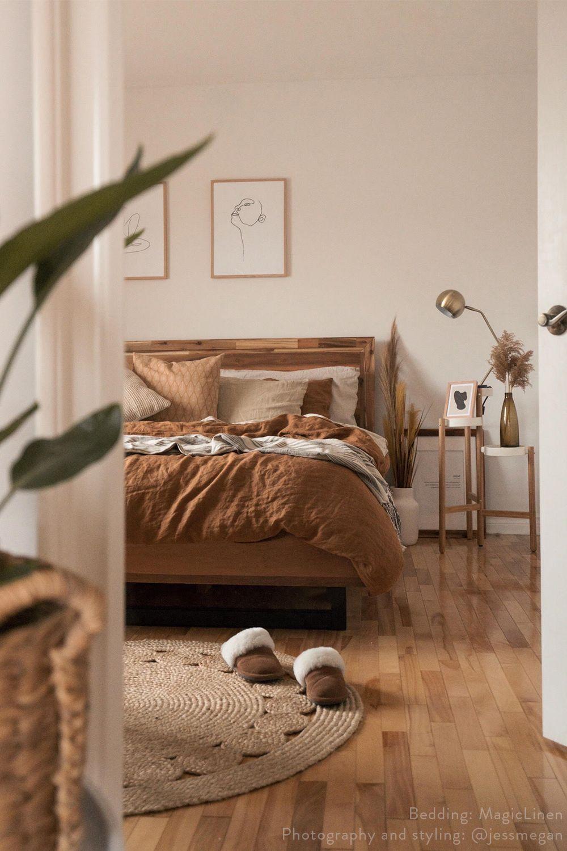 Cinnamon Linen Bedding | MagicLinen