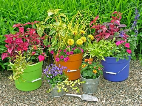 Upcycled Container Gardens, Planters and Vases   DIY Garden Projects   Vegetable Gardening, Raised Beds, Growing & Planting   DIY