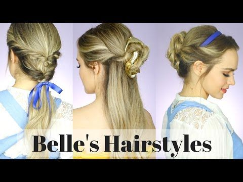 1 All The Beauty And The Beast Hairstyles Kayleymelissa Youtube Belle Hairstyle Hair Styles Disney Hairstyles