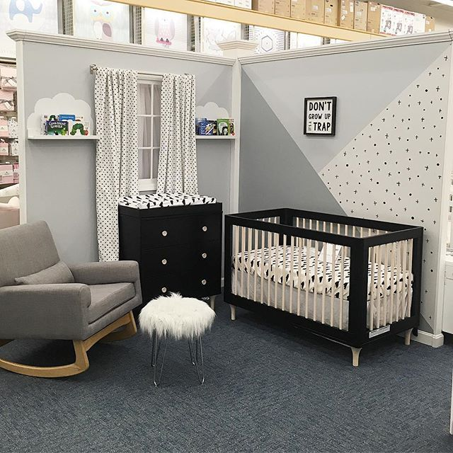Babyletto Lolly 3 In 1 Convertible Crib In Black Natural Buybuy