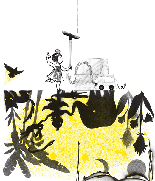 SUZY LEE---Shadow    A girl brings a shadow jungle to life.