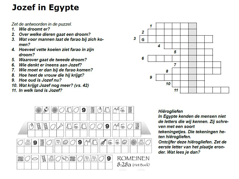Jozef In Egypte Bijbel Puzzels Pinterest Egypte