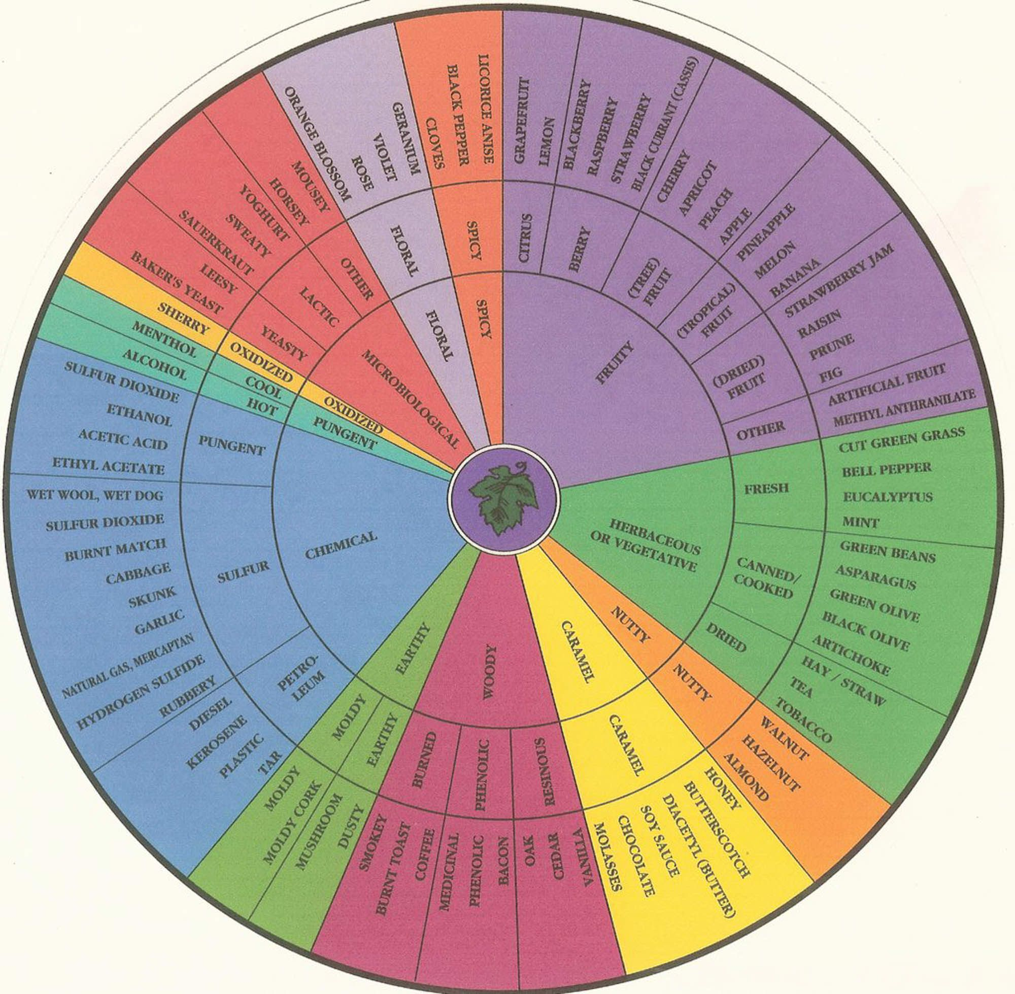 Image result for wine tasting wheel
