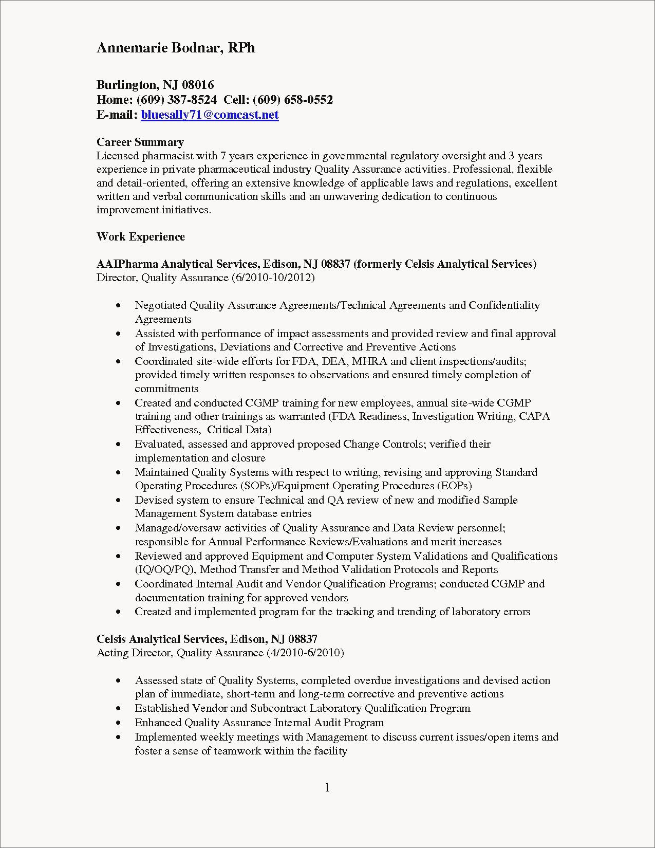 28+ Quality assurance director resume examples ideas