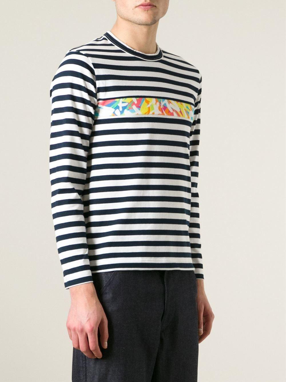 Comme Des Garçons Shirt Camiseta Listrada - Luisa Boutique - Farfetch.com