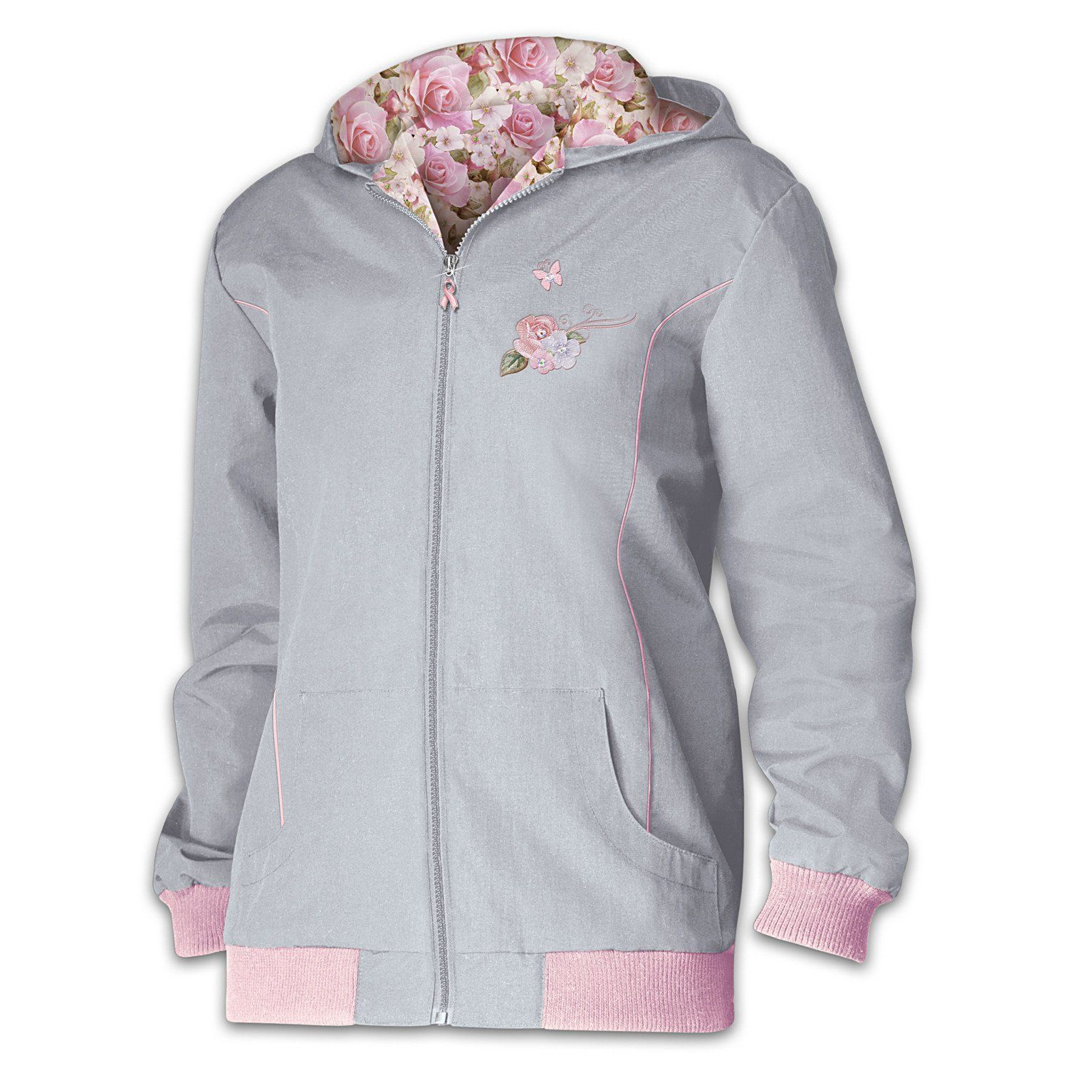 Blossoming Hope Lightweight Women's Embroidered Jacket by The Bradford Exchange >>> This is an Amazon Affiliate link. Click image for more details.