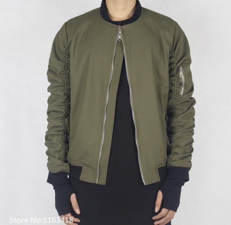 a46d729f7 fashion bomber jacket men black olive green streetwear hip hop urban ...