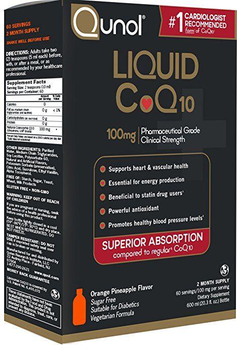 Qunol Liquid 100mg CoQ10, Superior Absorption Natural