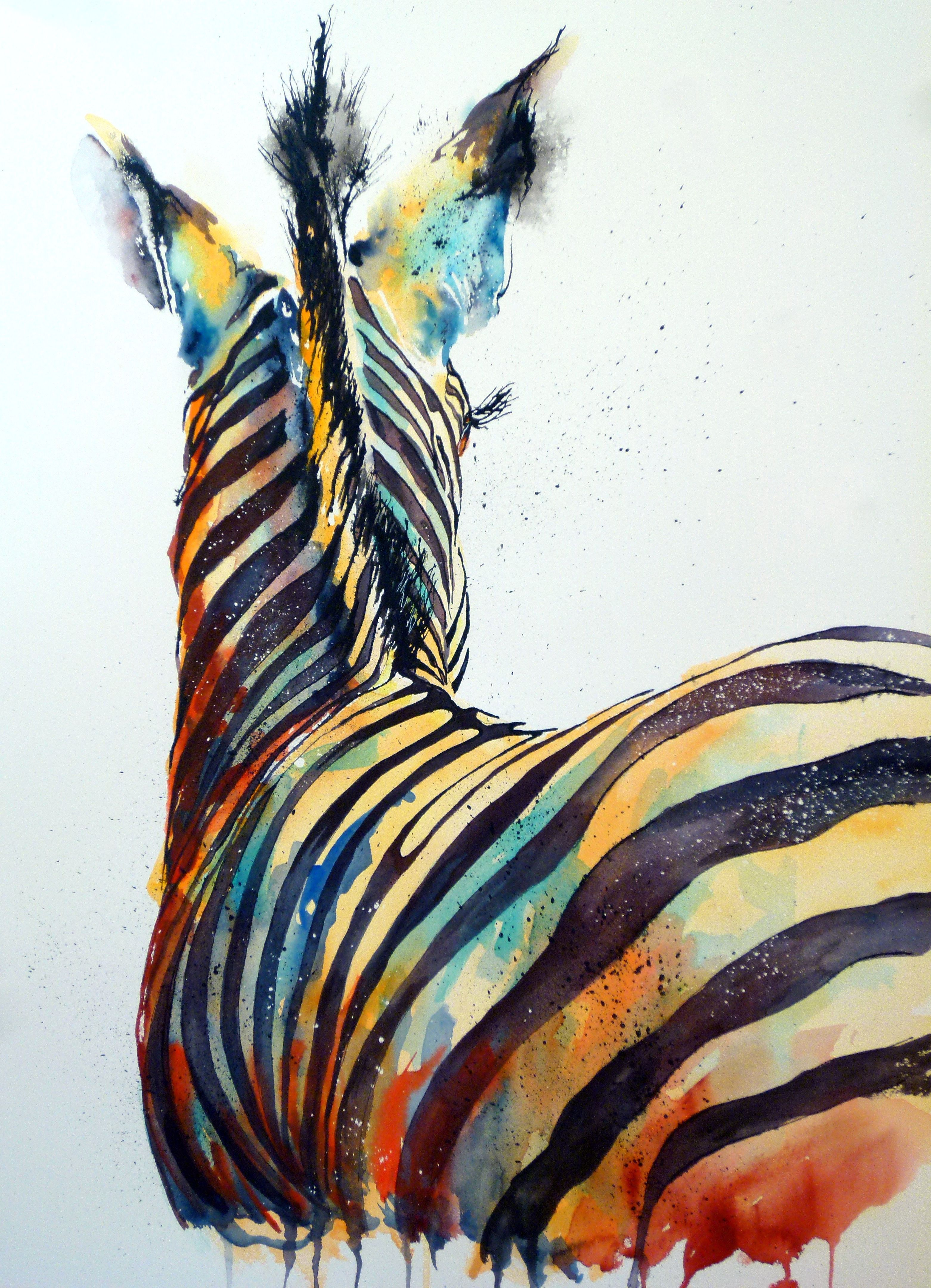 Wildlife Animals Such As These Colourful Zebras Are