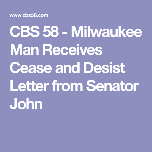 Cbs   Milwaukee Man Receives Cease And Desist Letter From