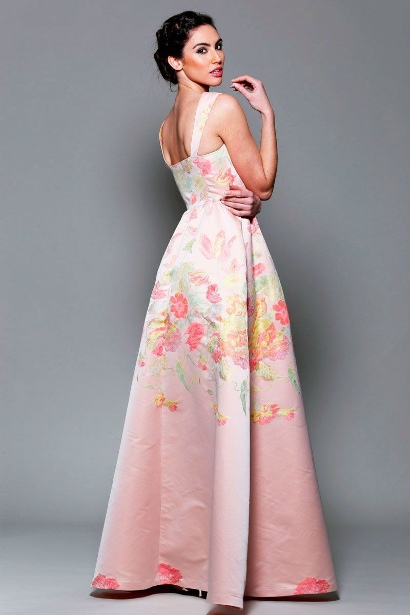 vestidos-rosa-floreado-largo | Dresses / Fashion | Pinterest ...