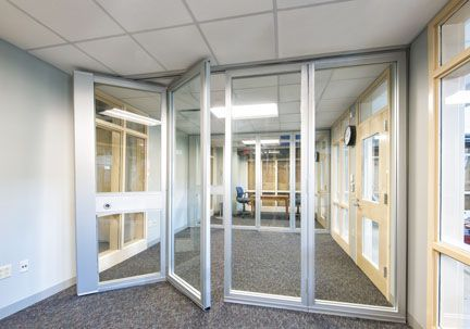 These the kind of conference room garage doors you were Office partition walls with doors