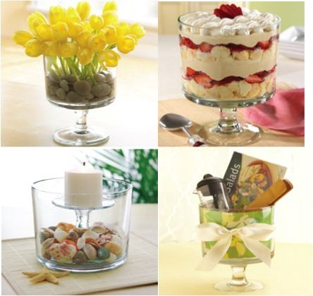 Many different ways to use your trifle bowl -- Great mother's day idea -- from Pampered Chef