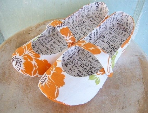 Mary Jane slippers PDF sewing pattern.