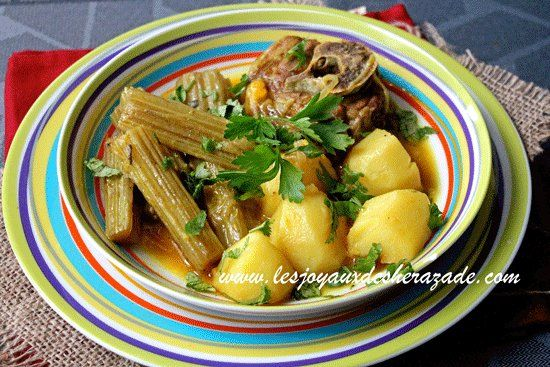 Tajine aux cardons tajine bel khorchef recette tajine for Mon voisin cuisine