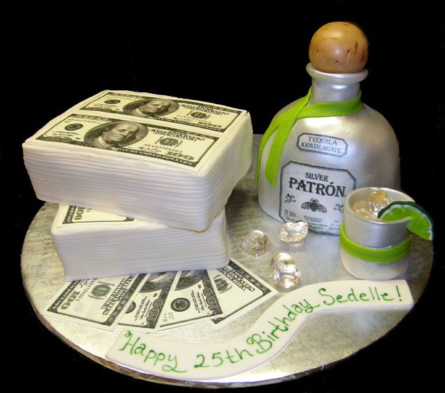 PatronCopyjpg  Fashion Pinterest Cake - Patron birthday cake