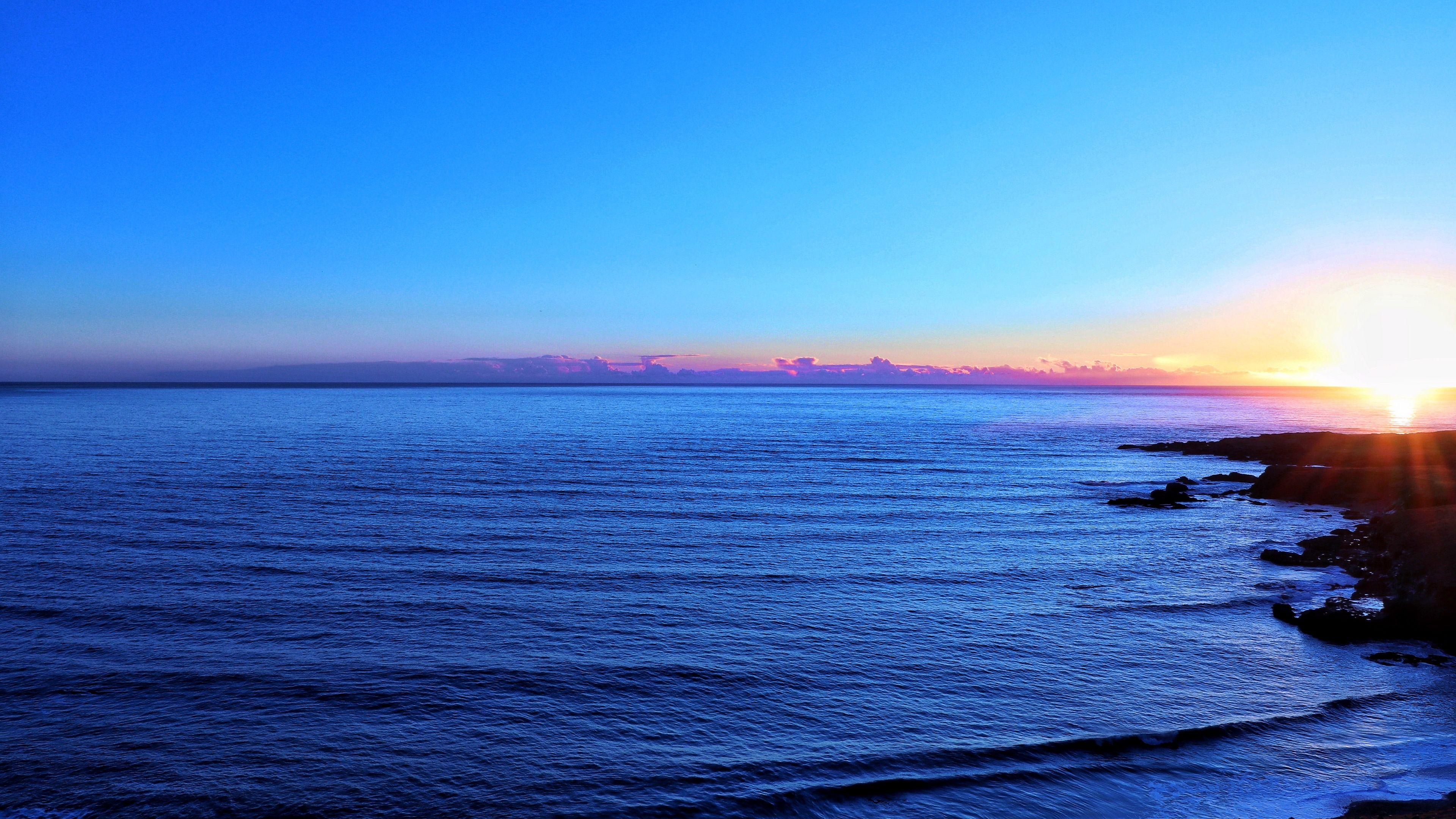 Ocean Skyline Sky Sunset 4k Skyline Sky Ocean Ocean Wallpaper Ocean Wallpaper