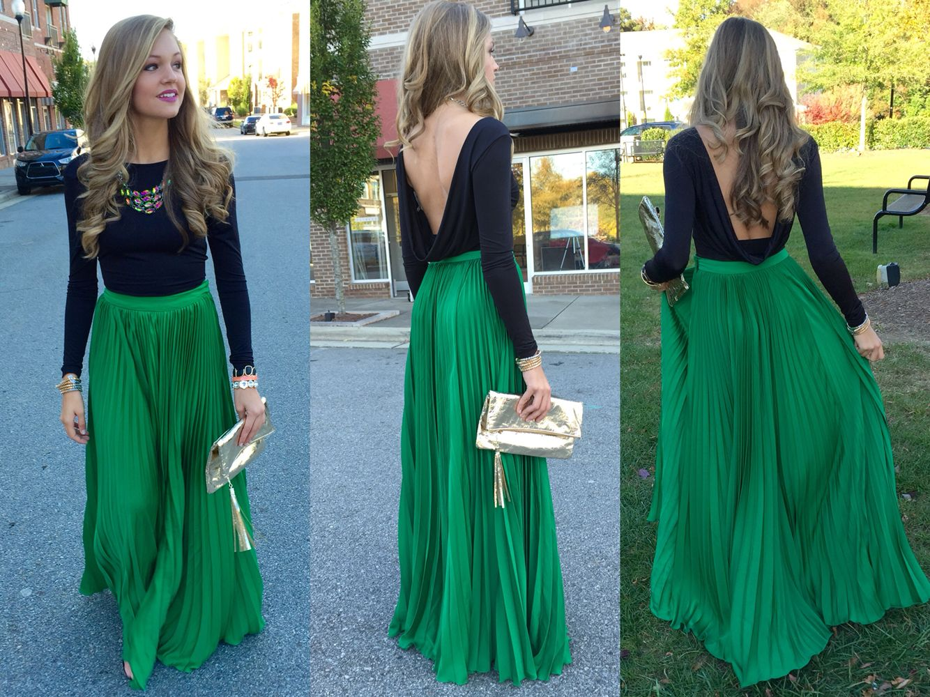 Green pleat maxi skirt #swoonboutique | SWOON Swag. | Pinterest ...