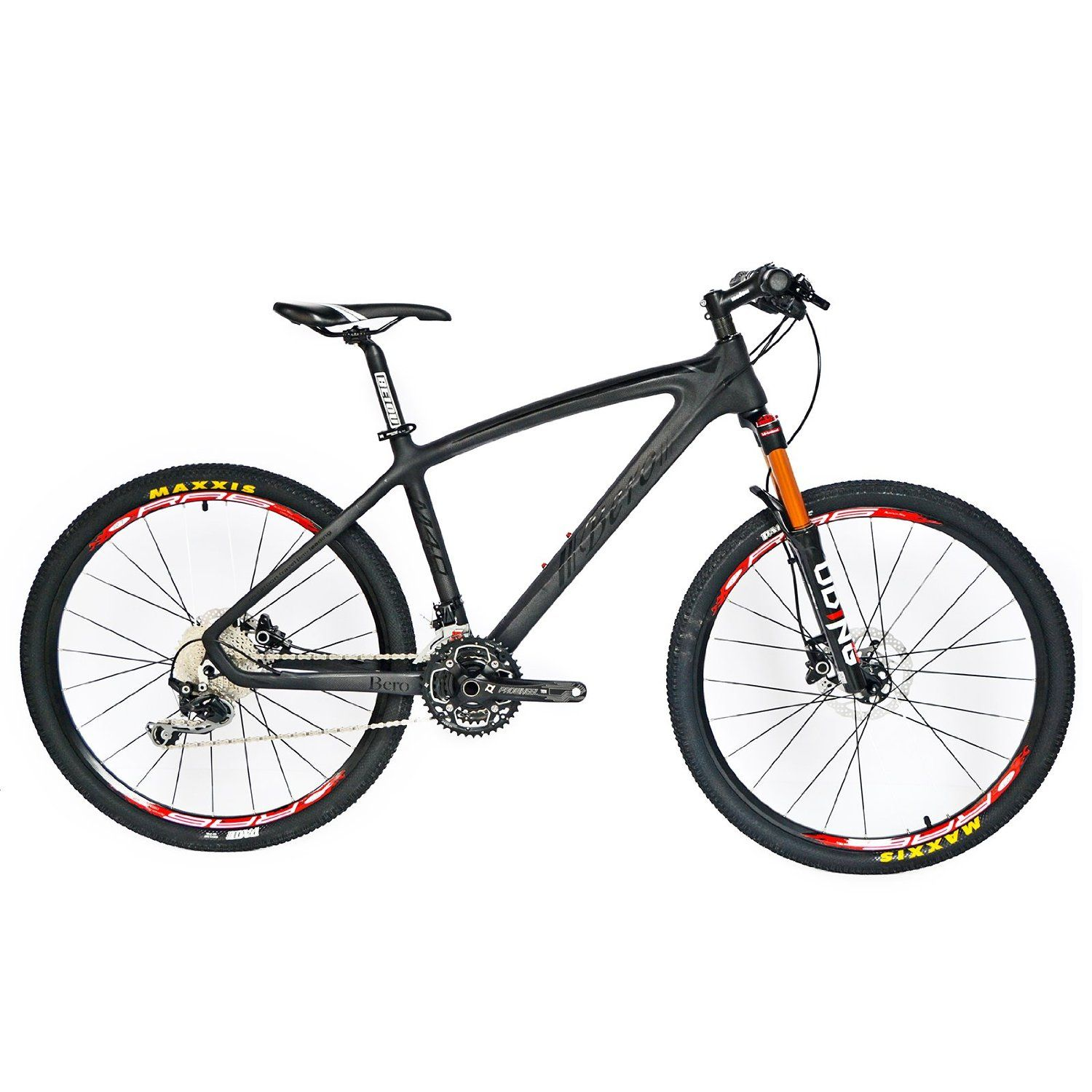 BEIOU® Carbon Fiber Mountain Bike Hardtail MTB 10.65 kg SHIMANO M610 ...