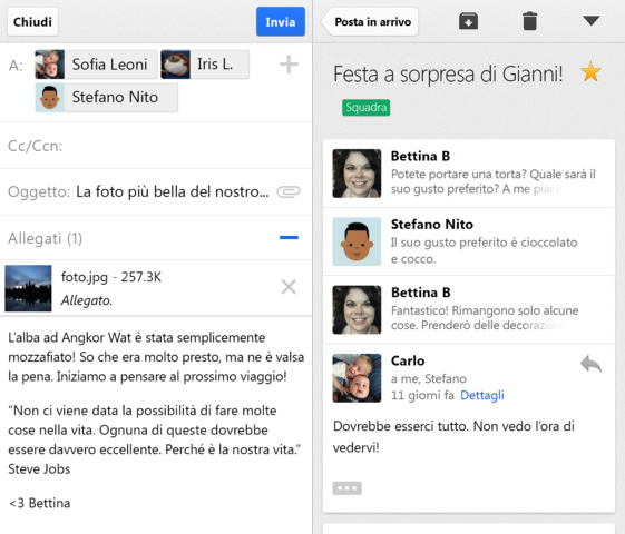 allegati gmail iphone