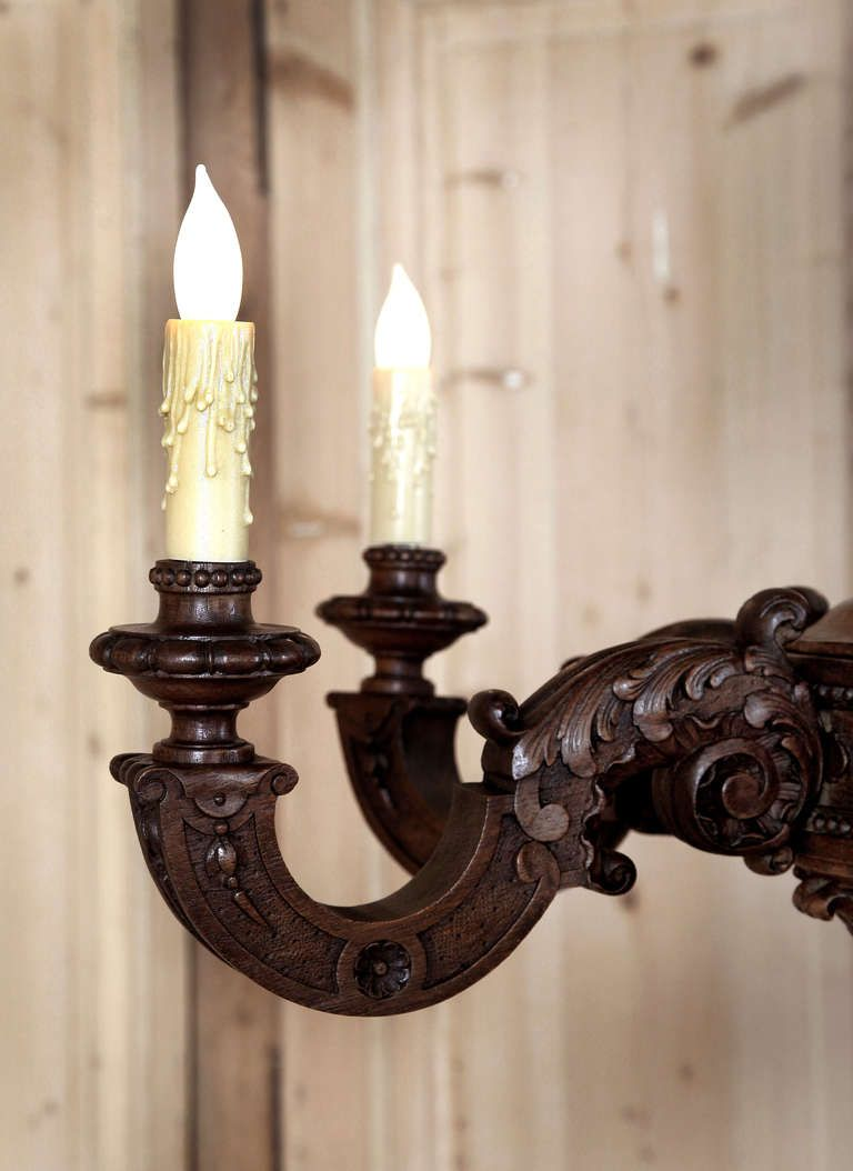 vintage wood chandelier | Vintage Louis XIV Wood Chandelier at 1stdibs