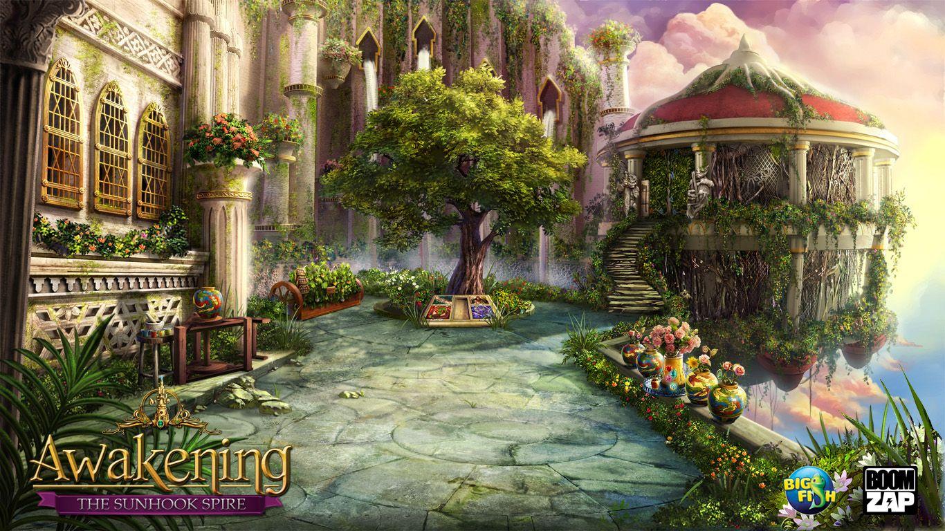 Hanging Garden By Lanwu Deviantart Com On Deviantart Hanging Garden Fantasy Art Landscapes Garden Illustration