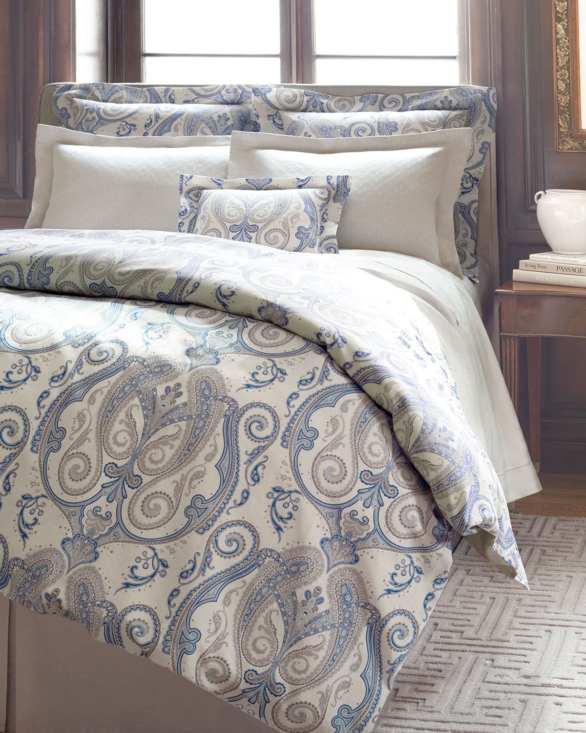 Annie Selke Luxe Ravello Paisley Bedding www