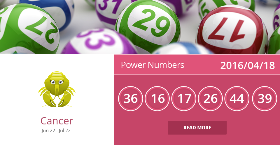 Cancer lucky numbers for 2016/04/18  PIN IT if accurate